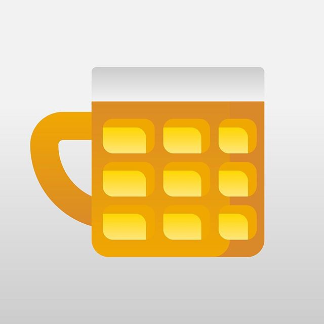 Beer mug icon for a personal project, experimenting with a gradient/solid style of shading.  #icon #graphicdesign #beer #adobe #illustrator #illustration #gradient #drink #drawing #adobeillustrator