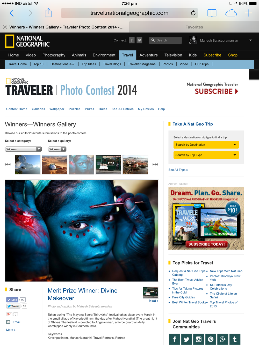 National Geographic Traveler Photo Contest 2014