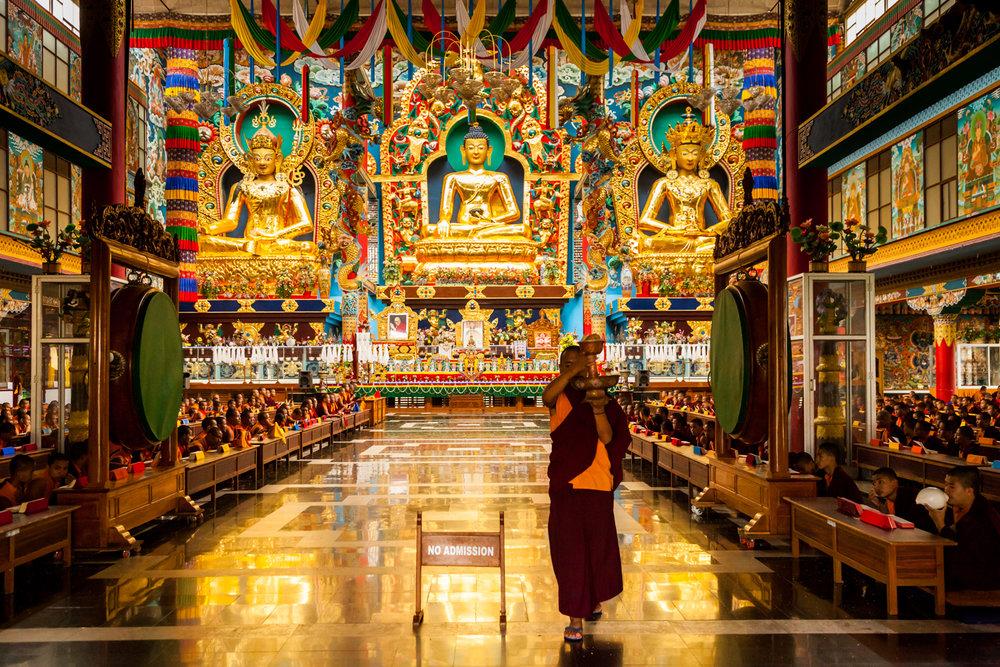 The Namdroling Nyingmapa Monastery, Bylakuppe, Karnataka, India