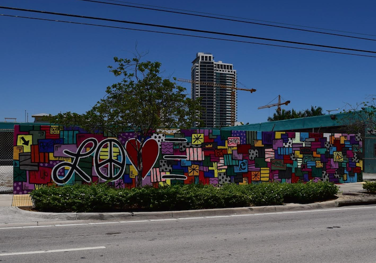 Graffiti Wall Miami Design District