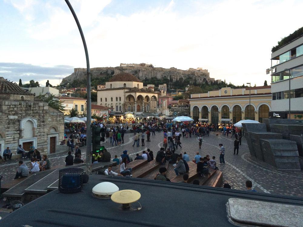Lively Monastiraki Square