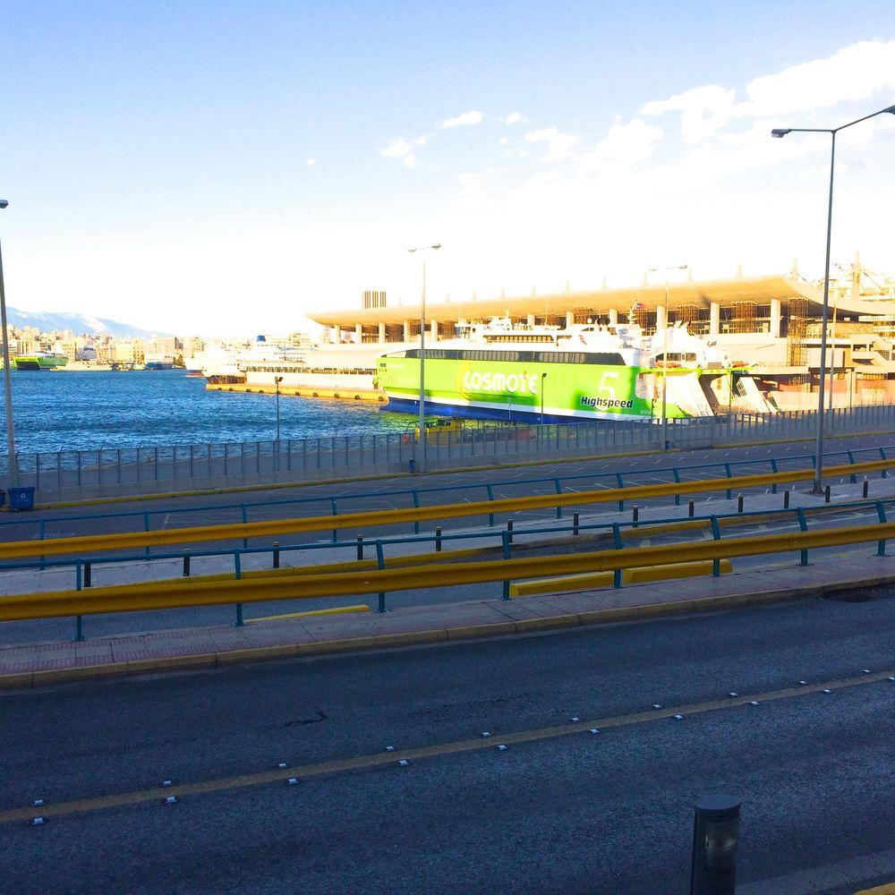 Popular cruse ship terminal in Piraeus near Athens