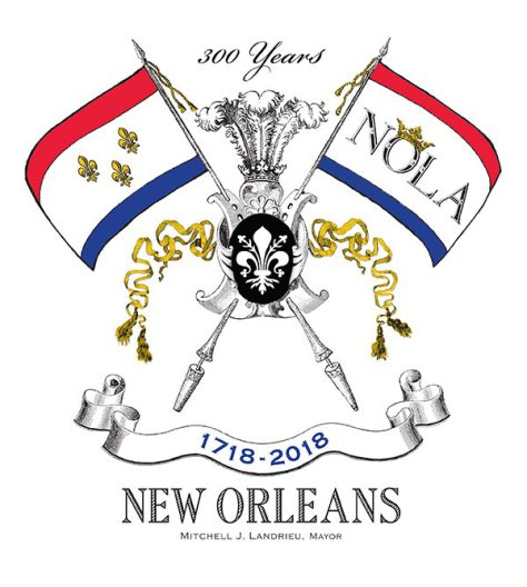 Pulitzer created New Orleans' tricentennial logo. The centennial commemorates the hard work of generations of New Orleanians, remember the city's fullness, richness, and diversity of its history.