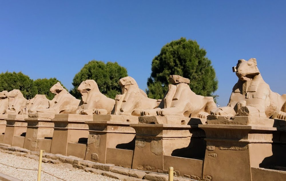 Avenue of Sphinxes, Karnak Temple Complex, Egypt