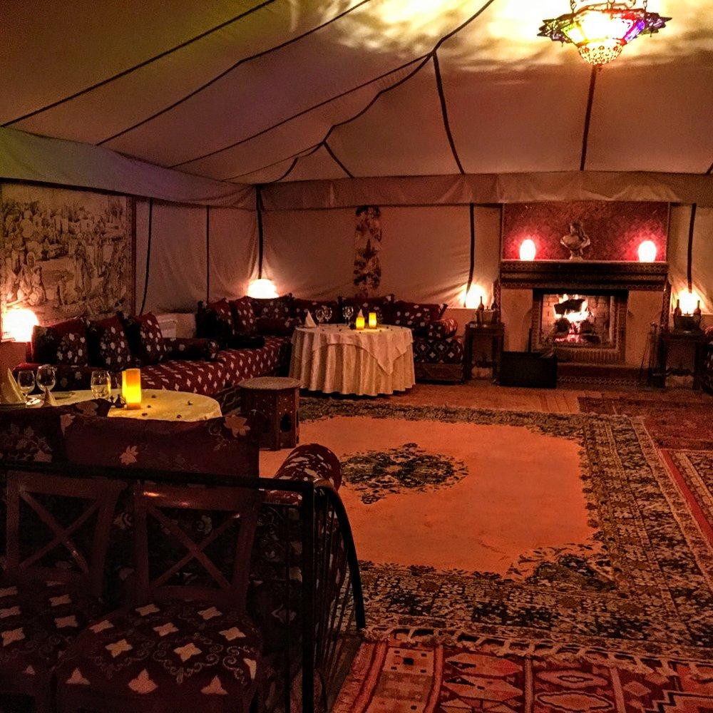 Dar Ayniwen Riad's Restaurant Tent