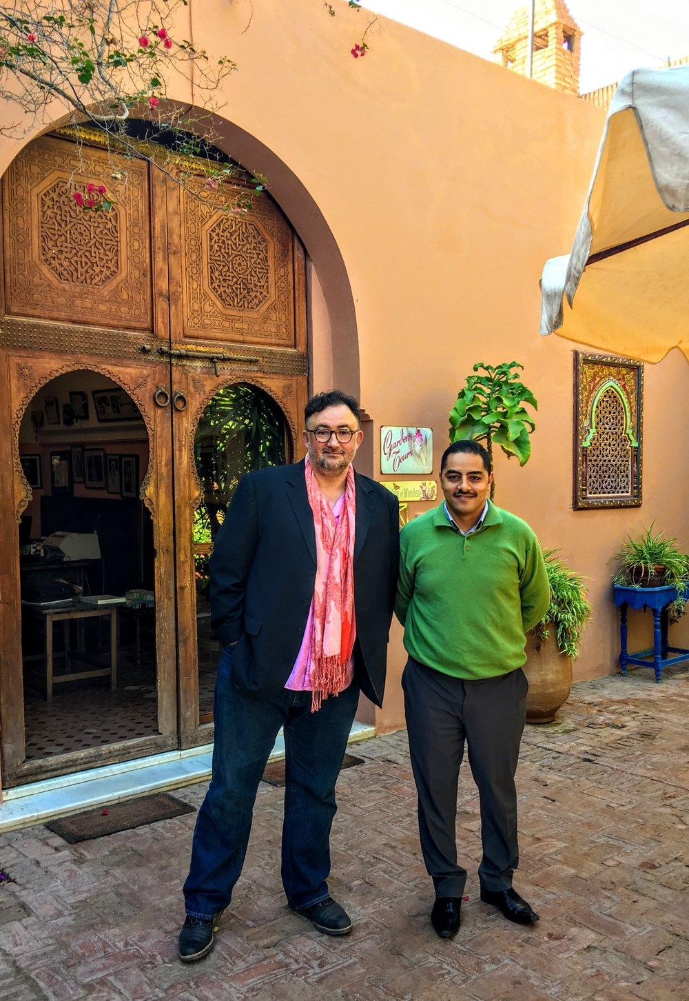 Dar Ayniwen owner, Stephan and GM, Aziz