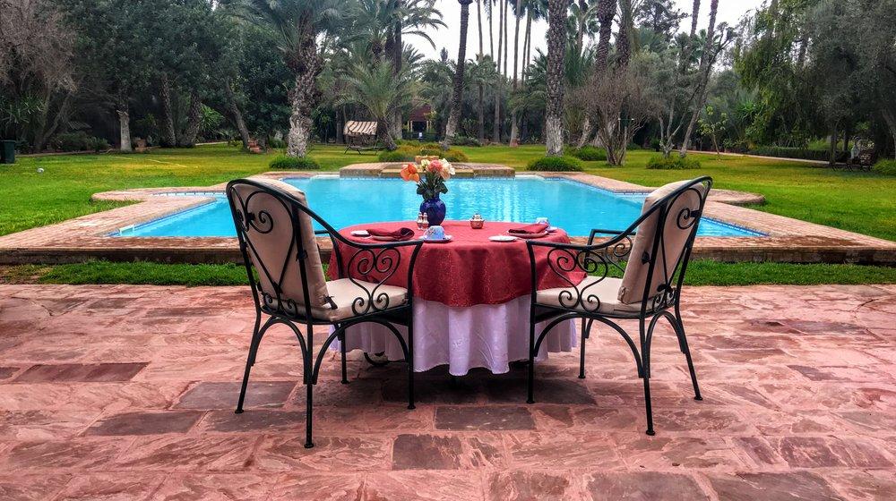 Poolside Dining at the Dar Ayniwen