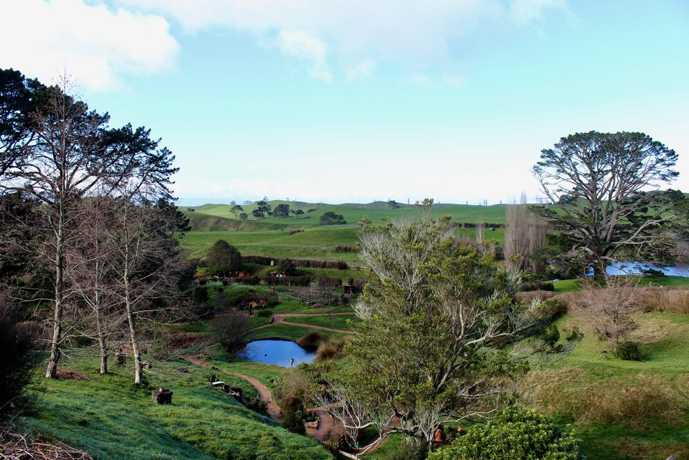 Hobbiton's rolling green hills