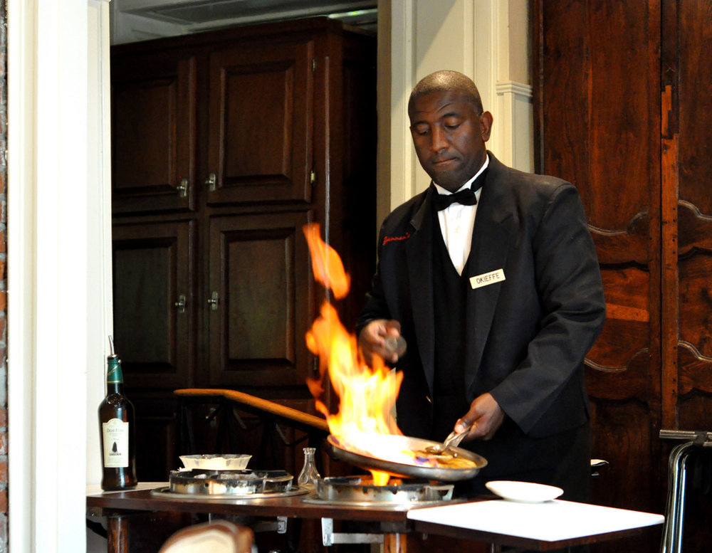 Banana's Foster Flambé being served up at Brennans.  Photo  by  Kimberly Vardman  via flickr.