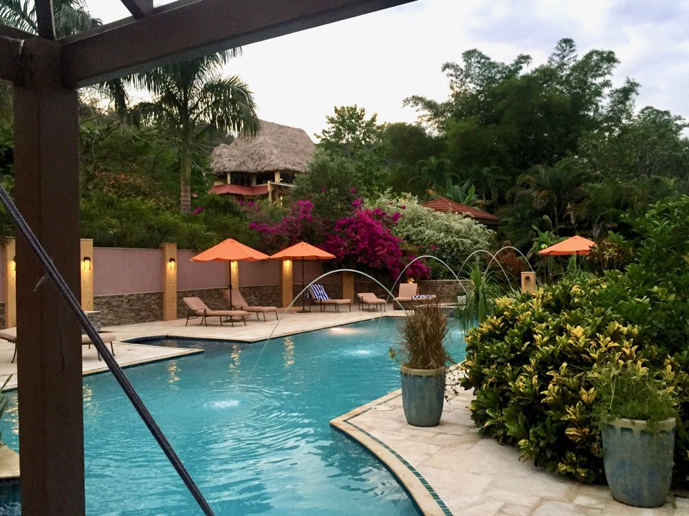 The pool at Sleeping Giant Rainforest Lodge