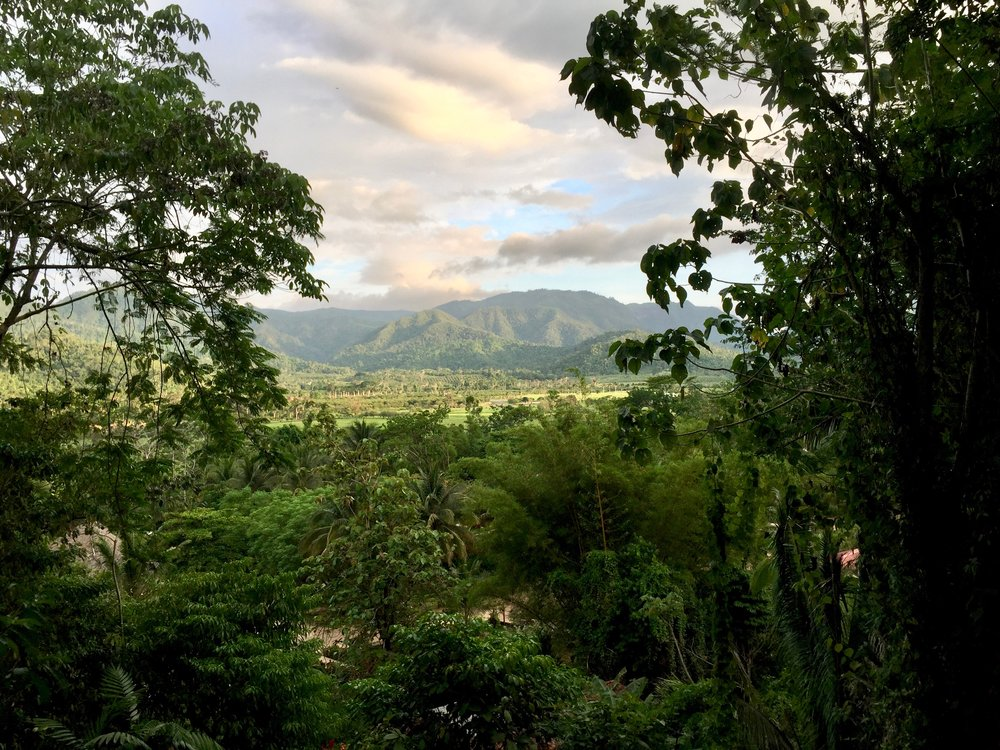 A view from above of the plains and jungle surrounding Sleeping Giant