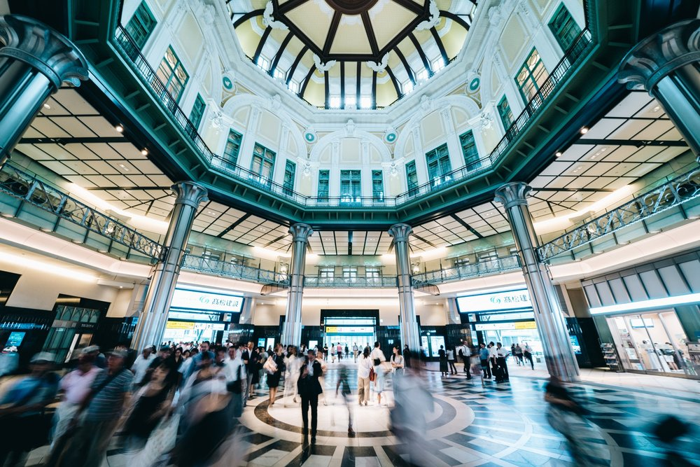 Buzzing Tokyo station
