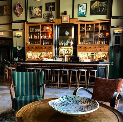 The Ace Hotel's lobby bar