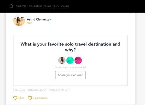 The AstridTravel Club Forum | Your Questions Answered