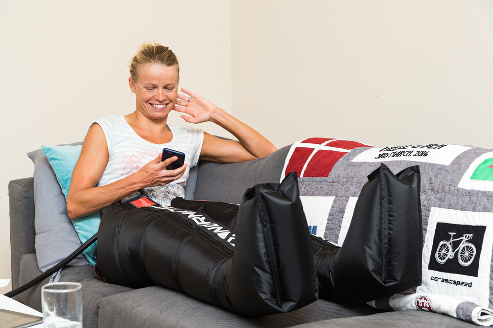 "7:37 PM - Recovery continues, and this is the best of them all. On the sofa, training banked, no corners cut, just enjoying my time, NormaTec'ing my way to the end of this training day. ( OK that rhymed, I didn't plan that) I travel with ""Norma"", as I call 'her'', everywhere. I have one system with me here in Clermont, Florida and one in Boulder, Colorado. It's again another layer of recovery on top of food, recovery products, sleep, self-maintenance and massage. At this level it's really all about doing everything we can, day after day."