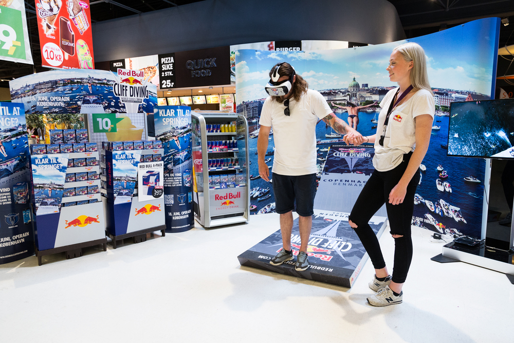 Virtual reality activation. Photo: Jesper Grønnemark