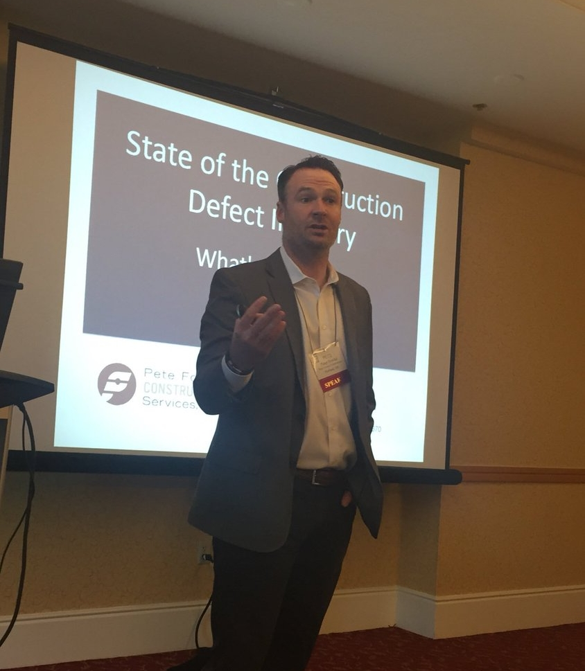"Pete giving his presentation ""State of the Construction Defect Industry: What's the Same and What's New?"" at AAMA's Western Region Conference 2017."