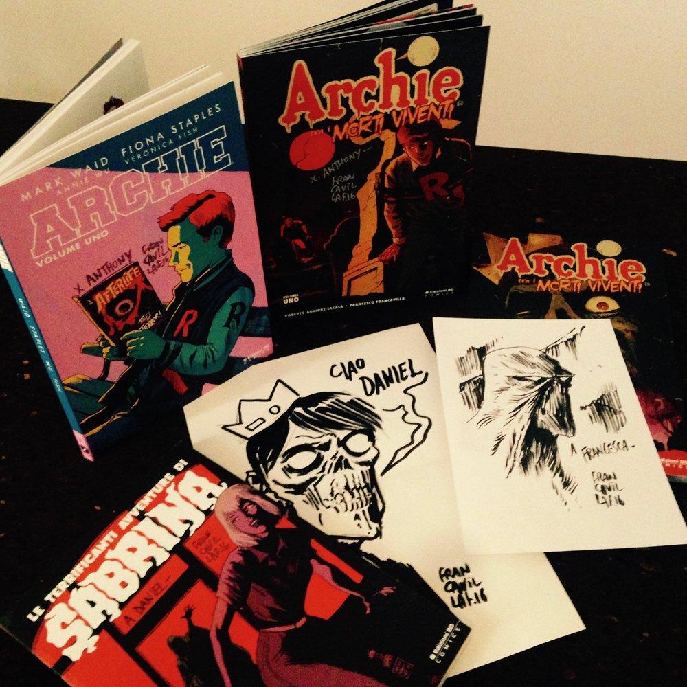 Archie, Archie Fra i Morti Viventi e Sabrina con le variant cover di Francesco Francavilla!