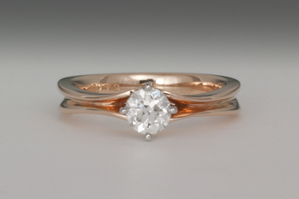 WEB Ladies 4 prong 18K Rose gold w platinum setting  2014 2nd Image 9791.jpg