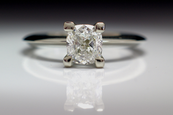 WEB-Weddings-Engagement-White Gold-Rectangular Cushion Diamond-Substantial Prongs-2010-Image P3693.jpg