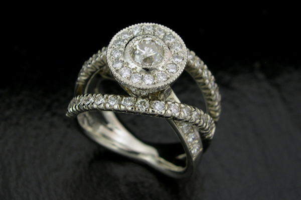 WEB-Weddings-Engagment-18 White Gold-Round Diamond-Tall Halo, Overlapping Bands-2008-BImage 5411.jpg