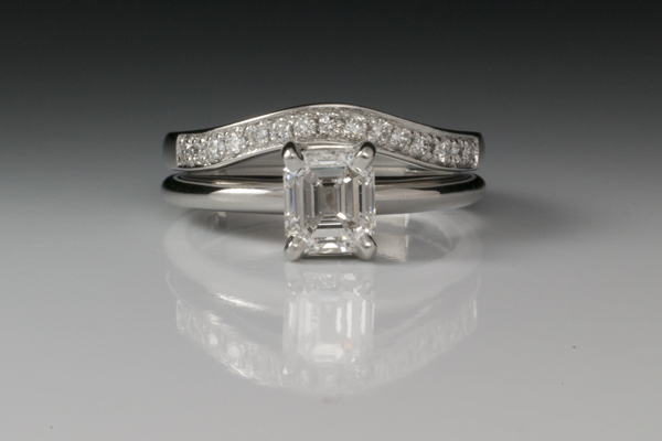 WEB-Weddings-Sets-Platinum band with pave to match customers ring-2012-Image 5751.jpg