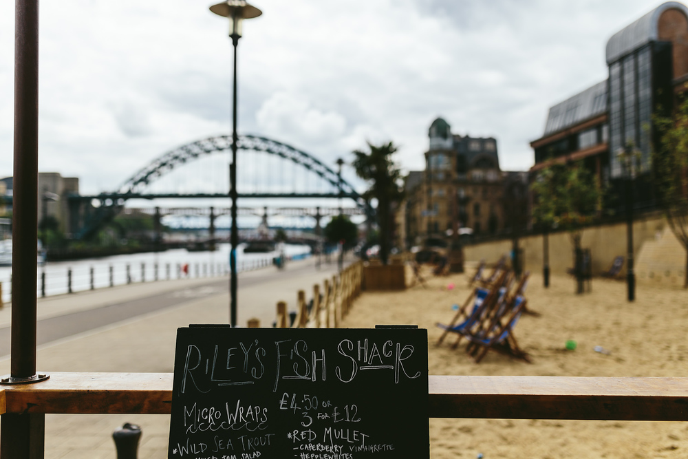 Currently a seasonal project along side NE1's Quayside Seaside, we're planning to collaborate with guest chefs and traders for a week of each month to keep the menu fresh.