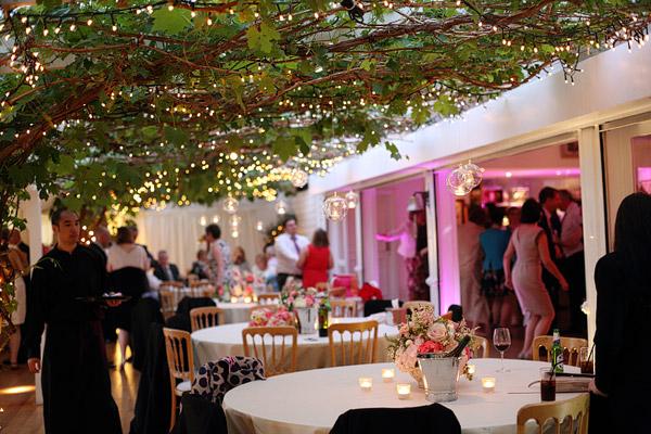 wedding reception at Ham Polo Club richmond