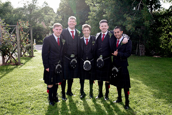 Ushers in kilts Scottish wedding