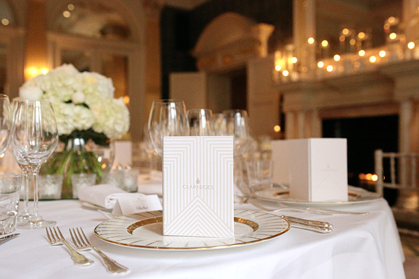 Claridge's Hotel wedding