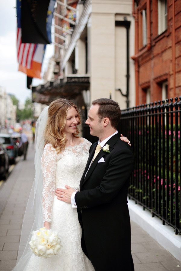 wedding photographer in Claridge's