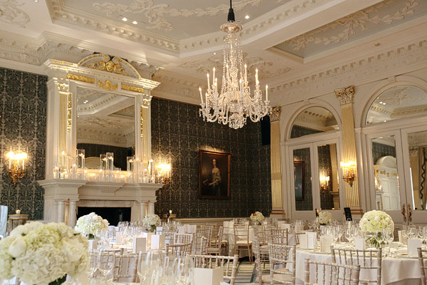 wedding reception in Claridge's Hotel