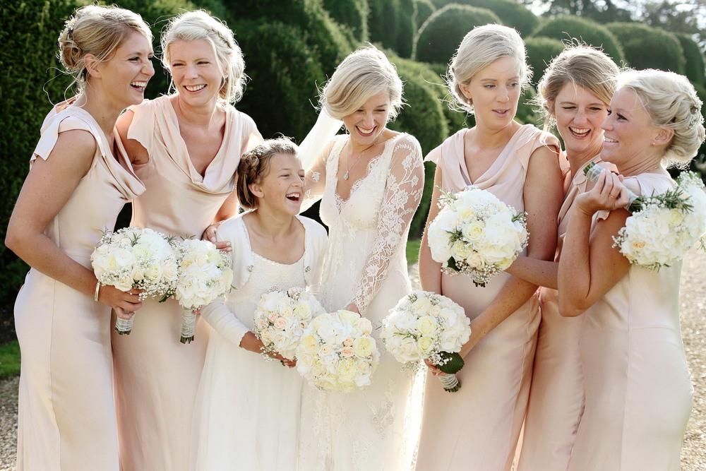 informal bridesmaids photo