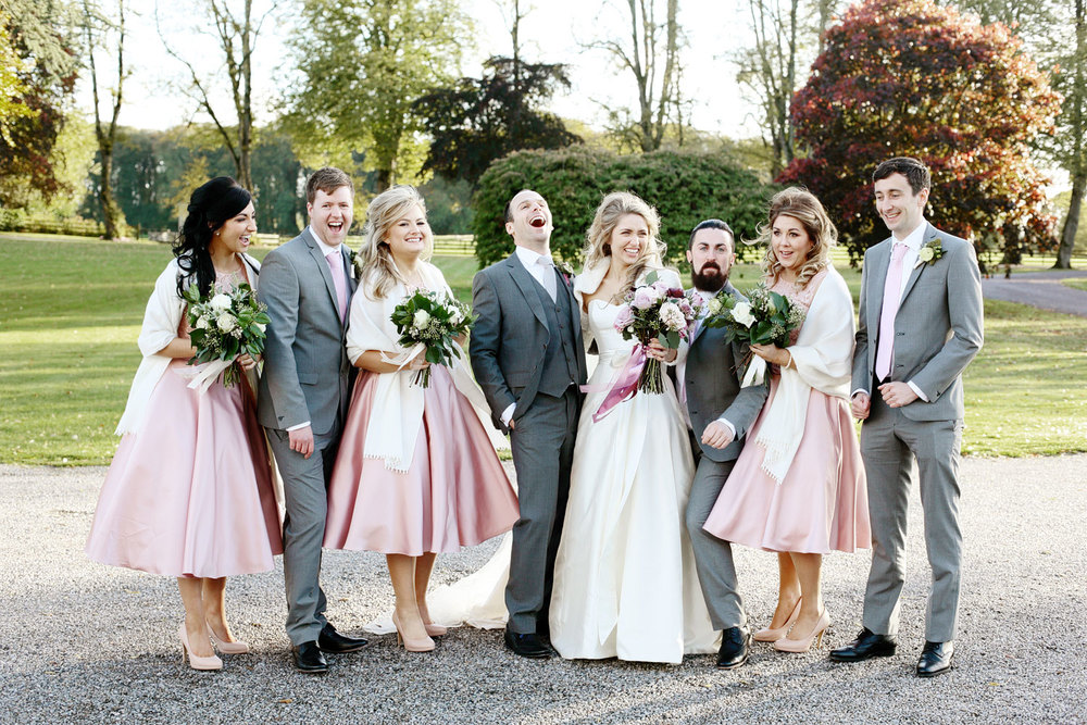 Tankardstown House wedding bridal party photo