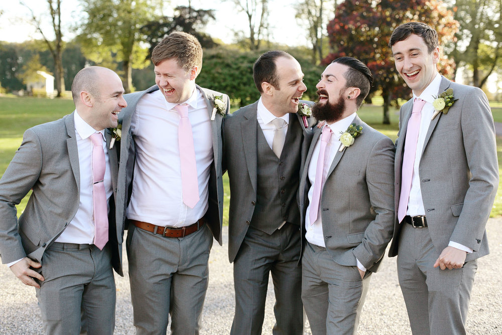 Tankardstown House wedding groomsmen photo