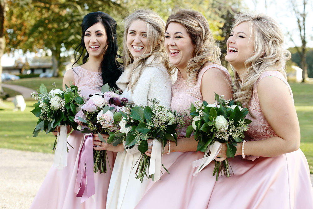 Tankardstown House wedding bridesmaids photo