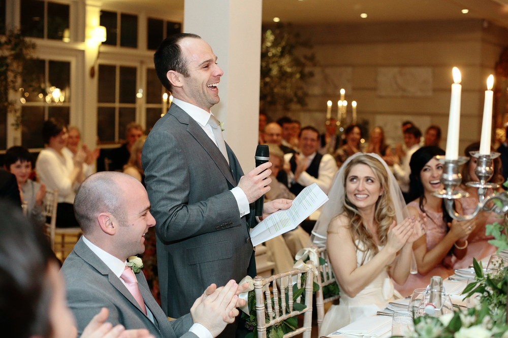 Tankardstown House wedding reception speeches