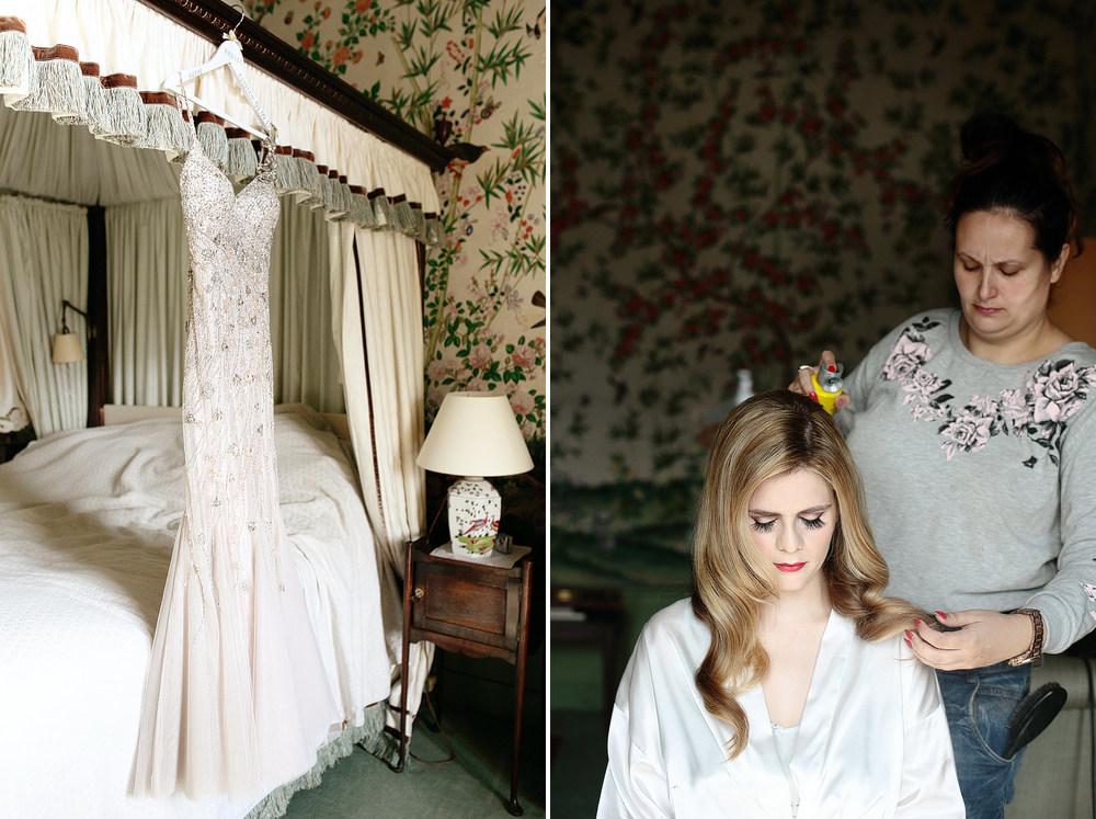Eastnor Castle wedding bride getting ready