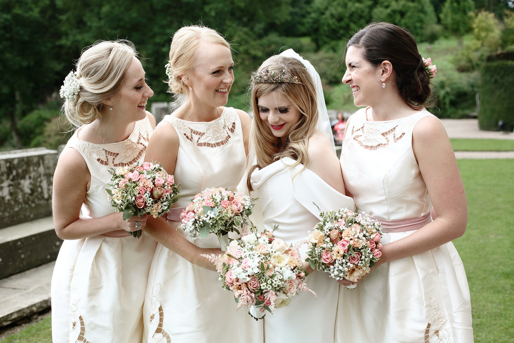 Eastnor Castle wedding photos bridesmaids