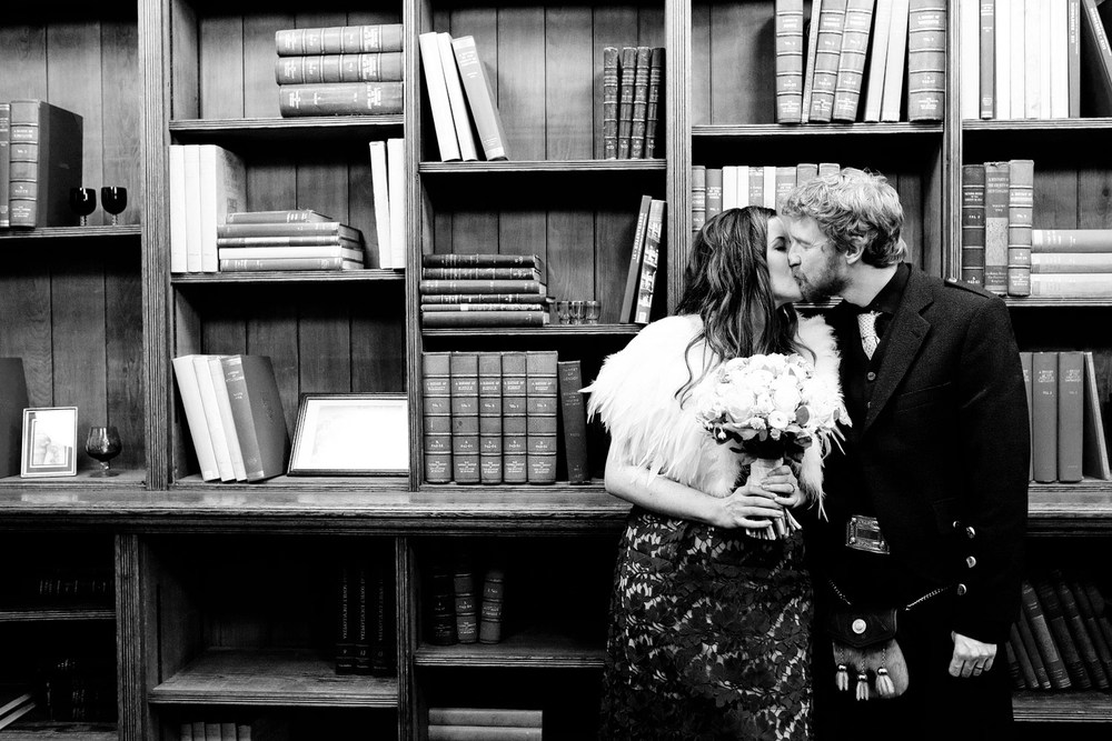 Elopement wedding at Mayfair Library
