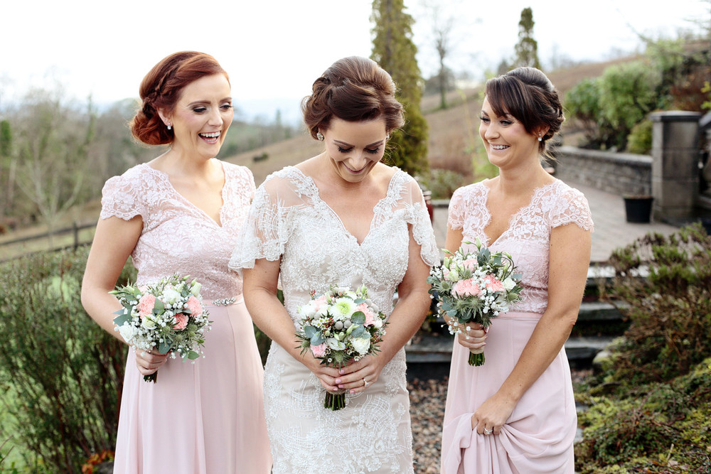 Ireland wedding photographer bride and bridesmaids portrait