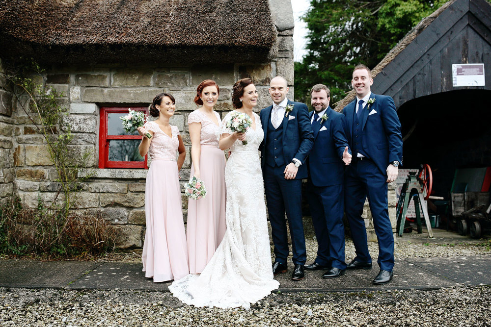 Natural bridal party photo