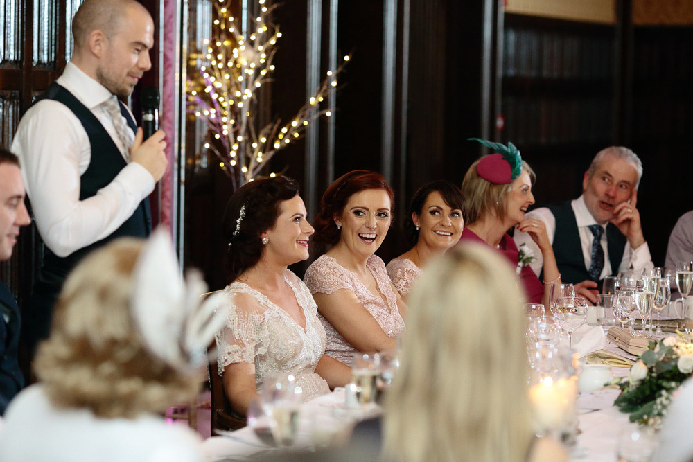 Kilronan Castle wedding speeches