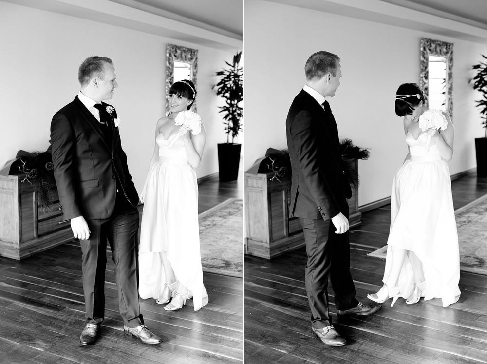 Irish wedding first look photos