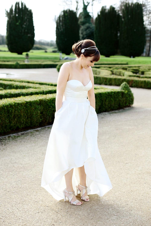 romantic bride photo at Castlemartyr Cork Ireland