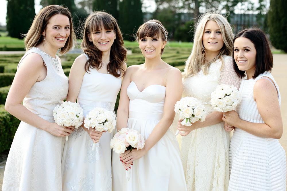 bride and bridesmaids photo at Castlemartyr Cork Ireland