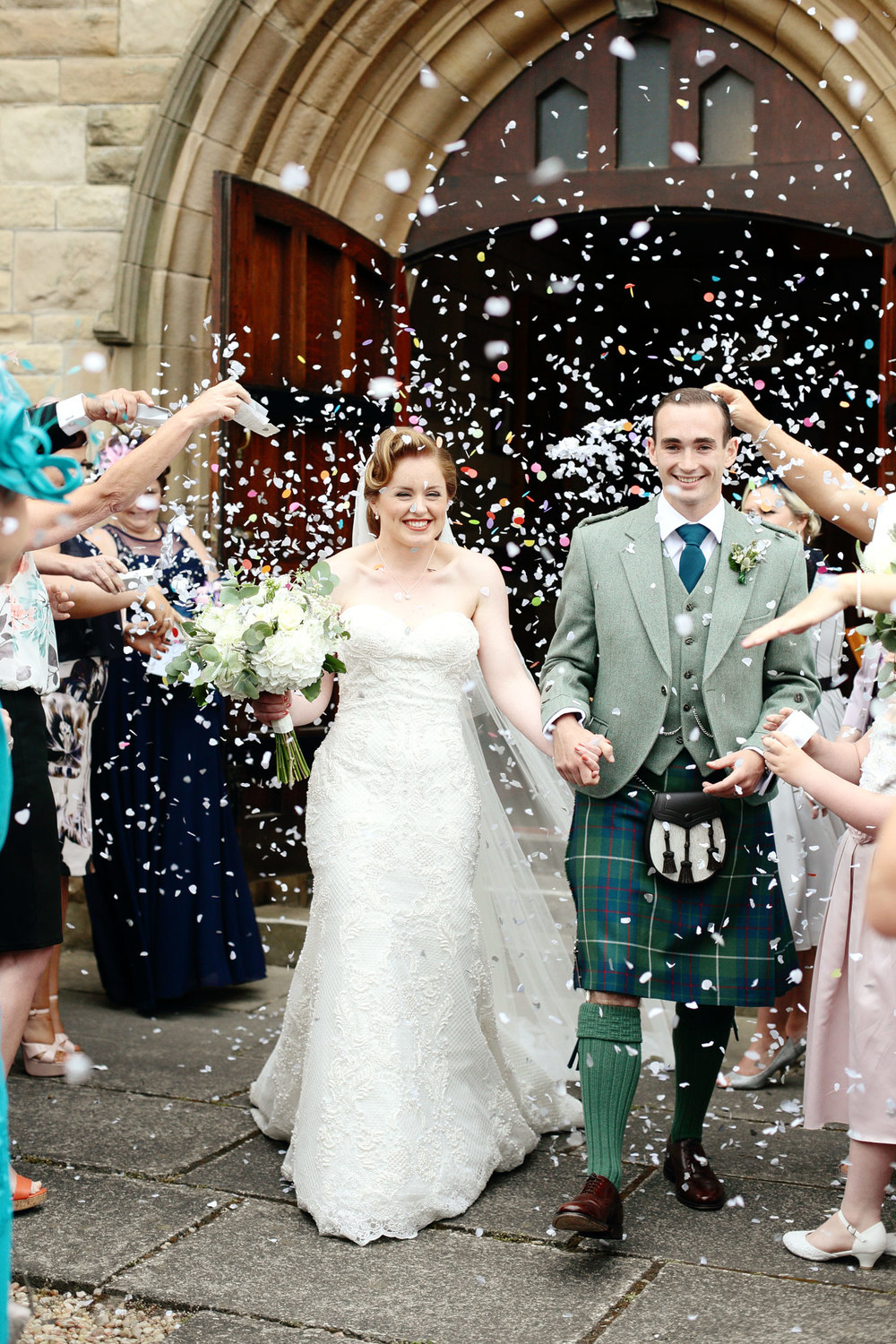 Confetti photo, Glasgow wedding photographer