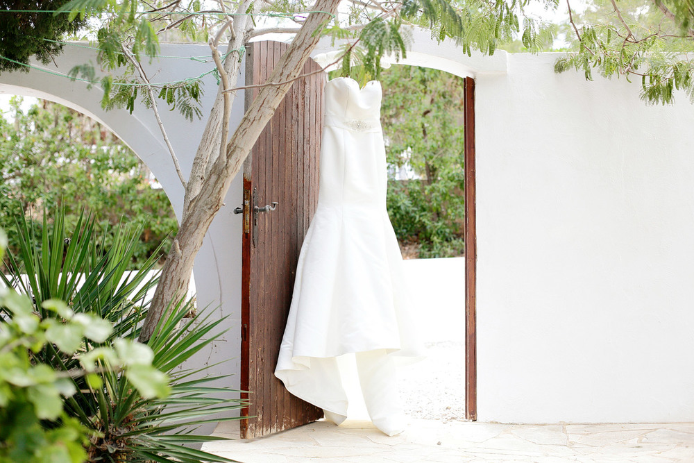 wedding dress photo Ibiza