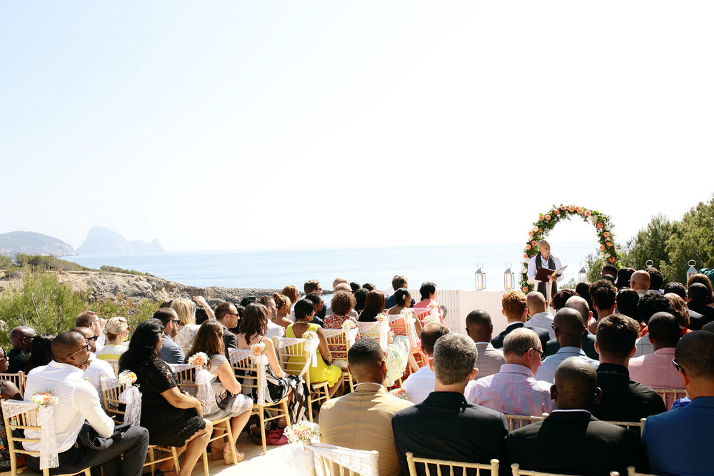 Terrace wedding ceremony Ibiza