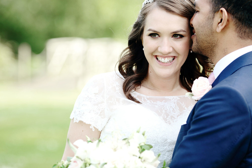 Bradbourne House bride and groom photo